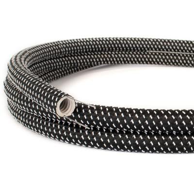 Creative-Tube - ohebná trubice potažená černo-bílou hedvábnou tkaninou s 3D efektem Star RT41, průměr 20 mm