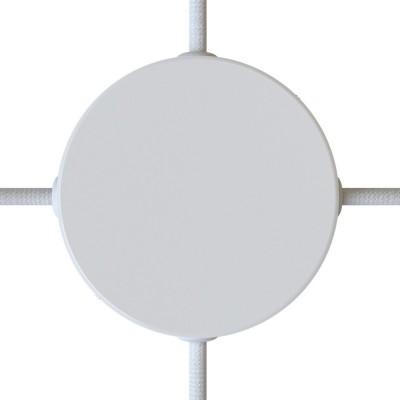 Válcový kovový stropní baldachýn se 4 bočními otvory
