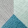 Světle modrý polyester - Džínový - Grafitový