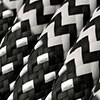 Black and White with Zig Zag cable