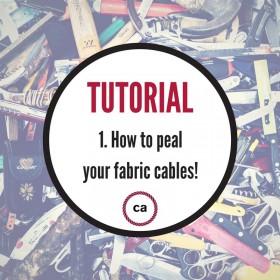 # 1 Návodl - Jak oloupat vaše textilní kabely!